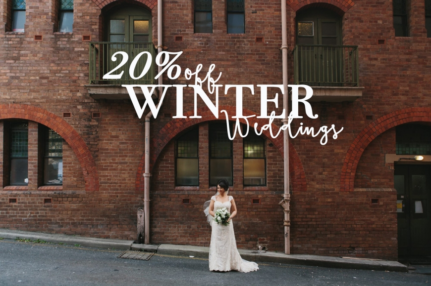 20% off winter weddings